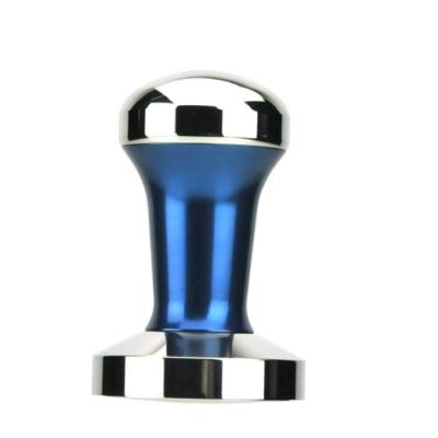 Tiamo C-Flat C平底 不鏽鋼填壓器58mm附底墊-藍色(HG3746B)