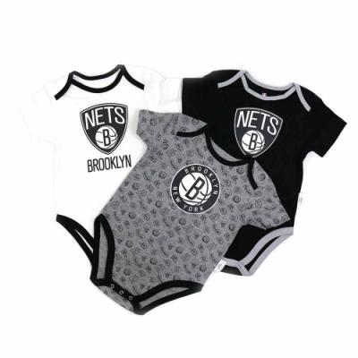 NBA新生兒包屁衣三件組 籃網隊 12-24M