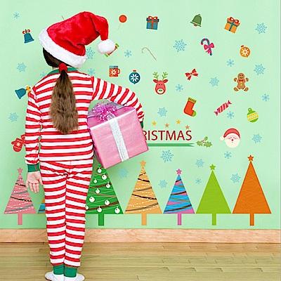 半島良品 DIY無痕壁貼-聖誕樹踢腳線  SK7074 50x70cm