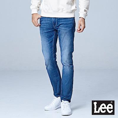 Lee 709七分低腰合身小直筒牛仔褲-中藍色