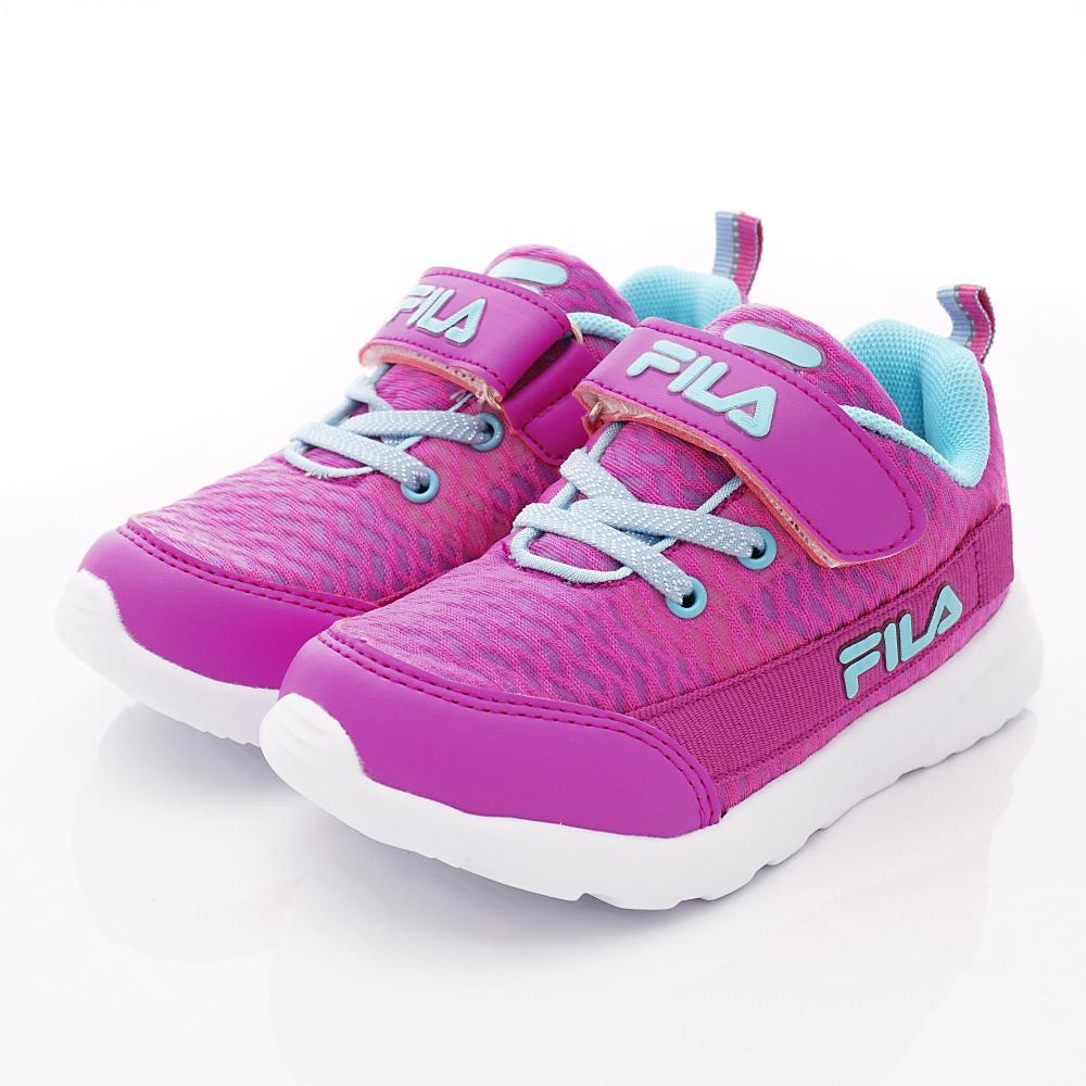 FILA頂級童鞋 透氣反光運動款 FO24T-223桃藍(中大童段)