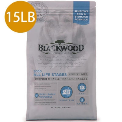 Blackwood柏萊富-功能性全齡滋補養生配方(鯰魚+珍珠麥)15LB
