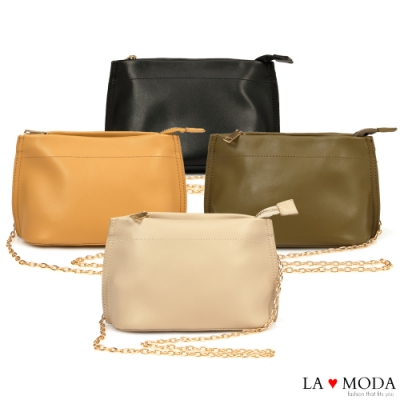 La Moda 輕巧百搭多背法肩背斜背鍊條小包(共4色)
