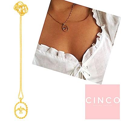 葡萄牙精品 CINCO LORE NECKLACE 925純銀鑲24K金 喜鵲項鍊