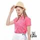 【Lynx Golf】女款吸濕排汗涼感舒適洞洞布短袖立領POLO衫-桃紅色 product thumbnail 2