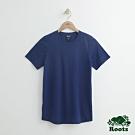 女裝Roots-珊蒂色紗短袖T恤-藍