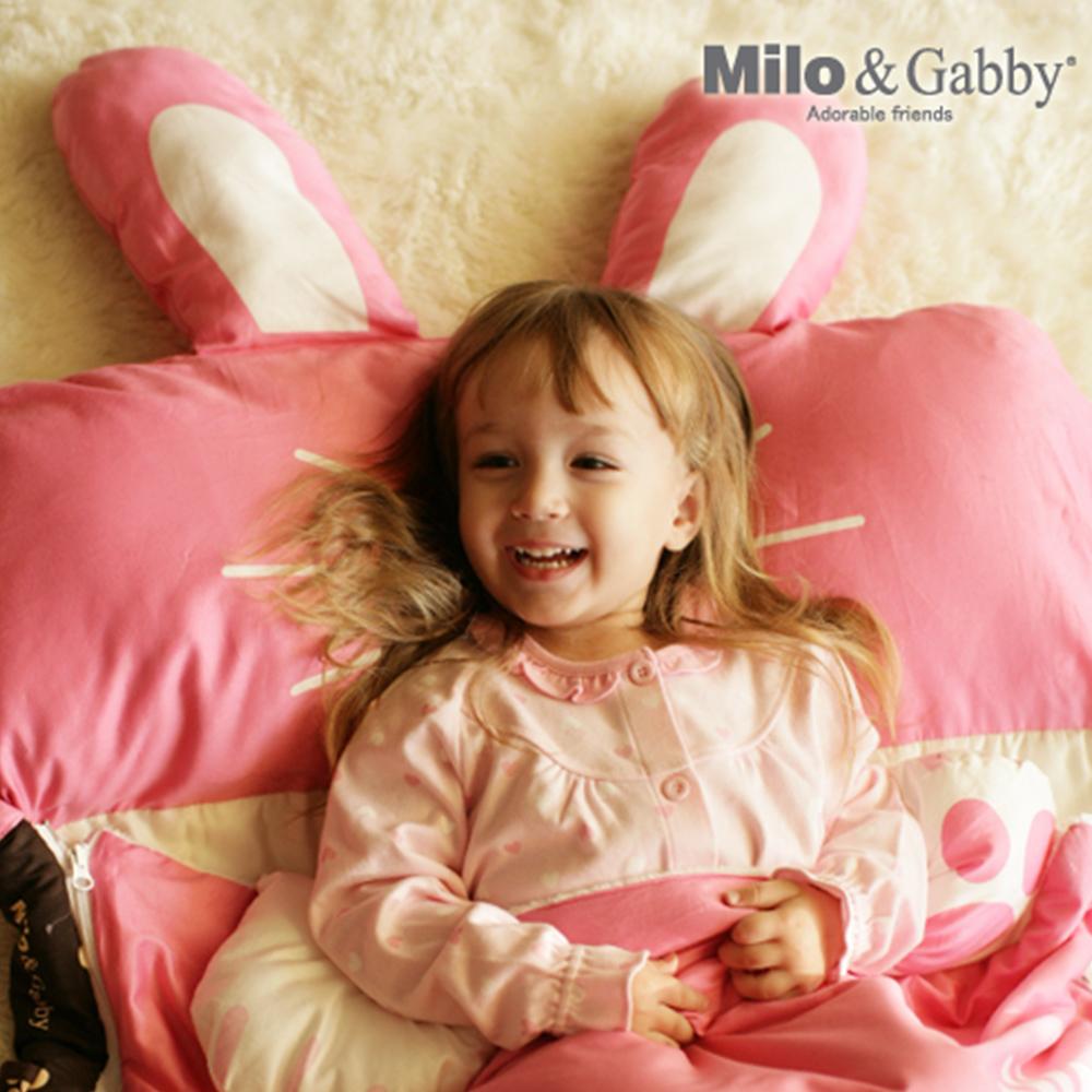 Milo&Gabby 動物好朋友-三合一超柔軟四季睡袋 (LOLA兔兔)