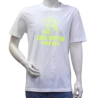 LV 1A47EW VIVIENNE FOREVER螢光黃色太陽花T恤(白)
