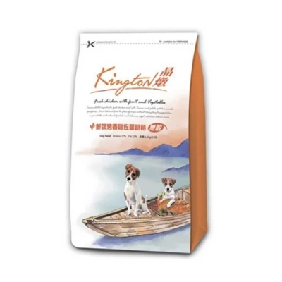 Kingston晶燉無穀狗-27%Protein鮮蔬烤春雞佐蔓越莓1.5kg  兩包組