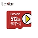 Lexar【PLAY】microSDXC UHS-I 記憶卡-512GB 台灣公司貨 product thumbnail 1