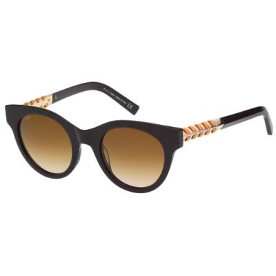 TOD S 編織系列 太陽眼鏡(深咖啡)