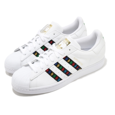 adidas 休閒鞋 Superstar 復古 低筒 男女鞋 愛迪達 三葉草 貝殼頭 情侶鞋 穿搭 白 彩 FZ0059