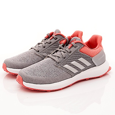 adidas童鞋 超輕慢跑款 NI851橘灰(中大童段)