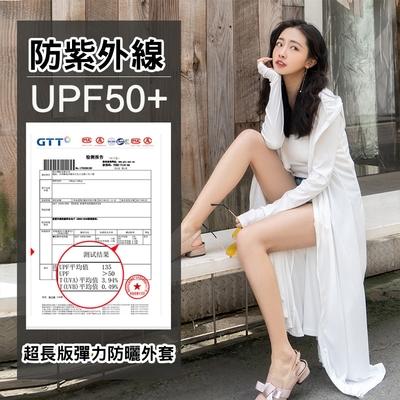 【KISSDIAMOND】修身加長版全面防曬冰鋒衣外套(3色M-XL/KDC-1022)
