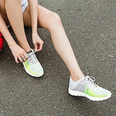 台灣製造.高彈迴力~撞色線條網布減壓減震運動鞋.2色-OB大尺碼