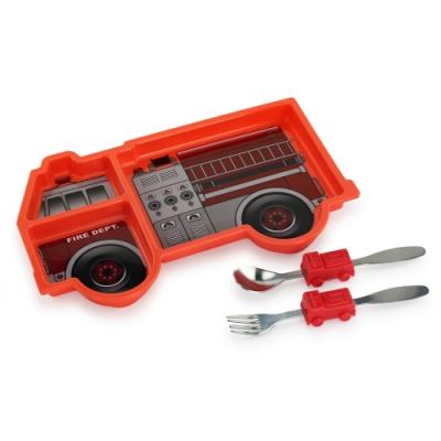 【KIDSFUNWARES】造型兒童餐盤組(消防車)