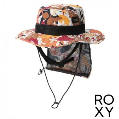【ROXY】UV WATER CAMP HAT PRT 抗UV戶外運動帽 珊瑚紅