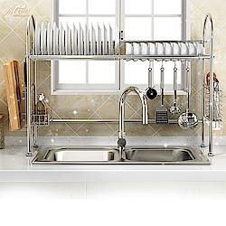 【Incare】收納空間up! 不袗碗架水槽瀝水架(雙槽設計)