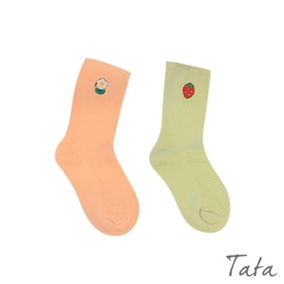 童裝 刺繡造型素色襪子-二入 TATA KIDS