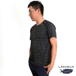 【LACHELN】男款-雙效抗UV吸排高彈力運動T恤-深灰色(L92MA11)