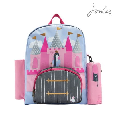 英國【Joules】ZIPPY粉紅城堡後背包
