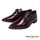 Tino Bellini義大利進口細緻質感牛皮綁帶皮鞋_酒紅