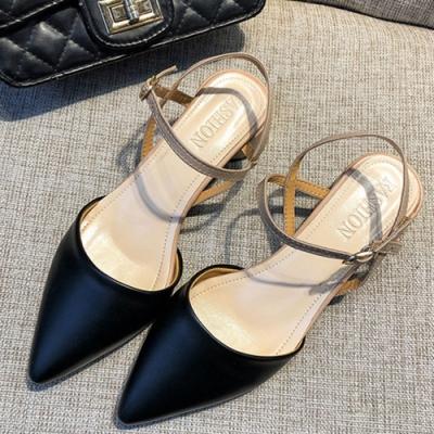 KEITH-WILL時尚鞋館 狂賣千雙素面粗跟鞋-黑