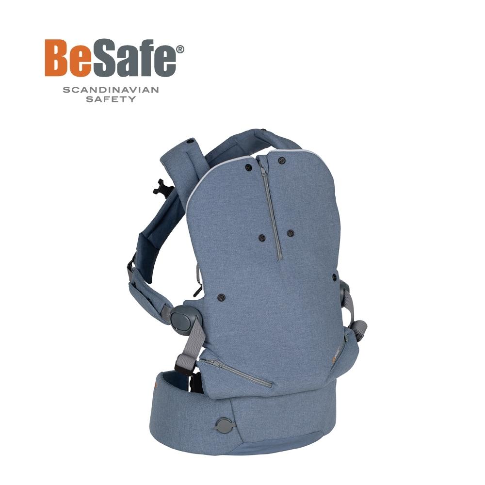BeSafe Haven輕量秒充氣墊腰凳式嬰幼兒揹帶- Leaf朝露藍