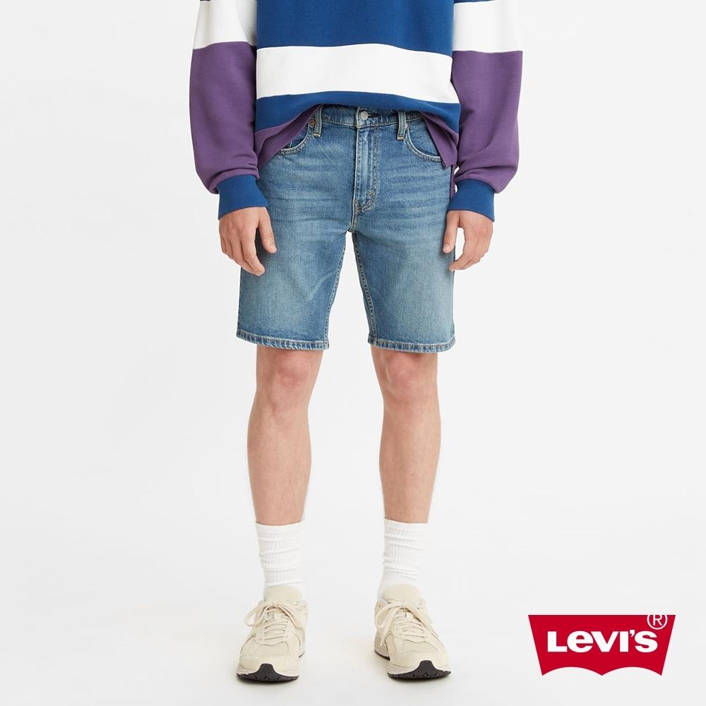 Levis 男款 修身版牛仔短褲 復古水洗工藝 天絲棉 彈性布料