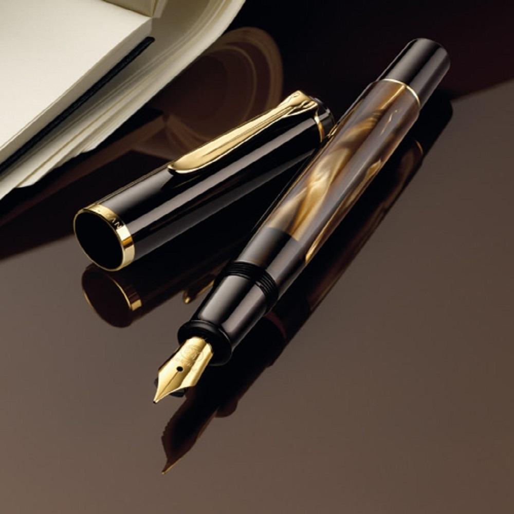 德國PELIKAN百利金 M200棕色大理石紋鋼筆