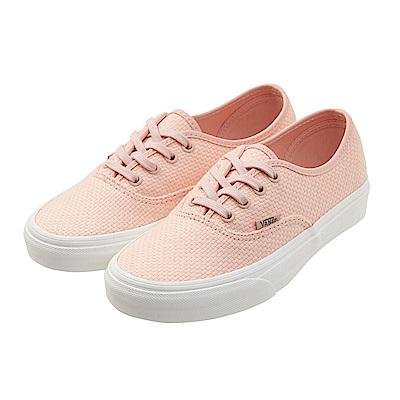 (女)VANS Authentic 編織素色休閒鞋*粉膚