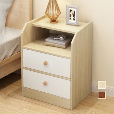 【慢慢家居】經典四層加高雙抽屜收納床頭櫃