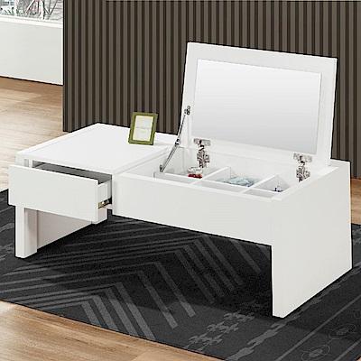 AS-巧莉絲3.3尺白色掀式大茶几-100x48x41