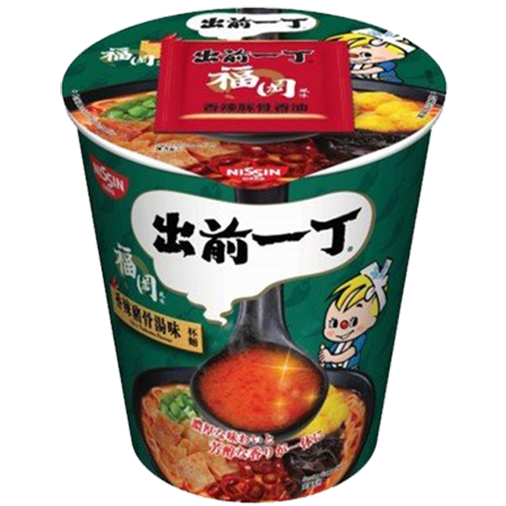 日清 出前一丁 香辣豬骨濃湯味杯麵 (75g)