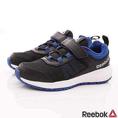 Reebok頂級童鞋 輕量機能避震運動款 FO205黑藍(中小童段)