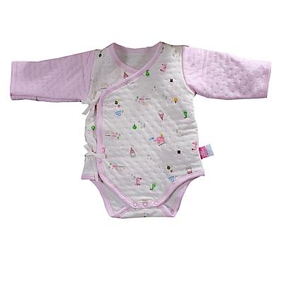 三層棉純棉護手連身衣 b 0100  魔法Baby