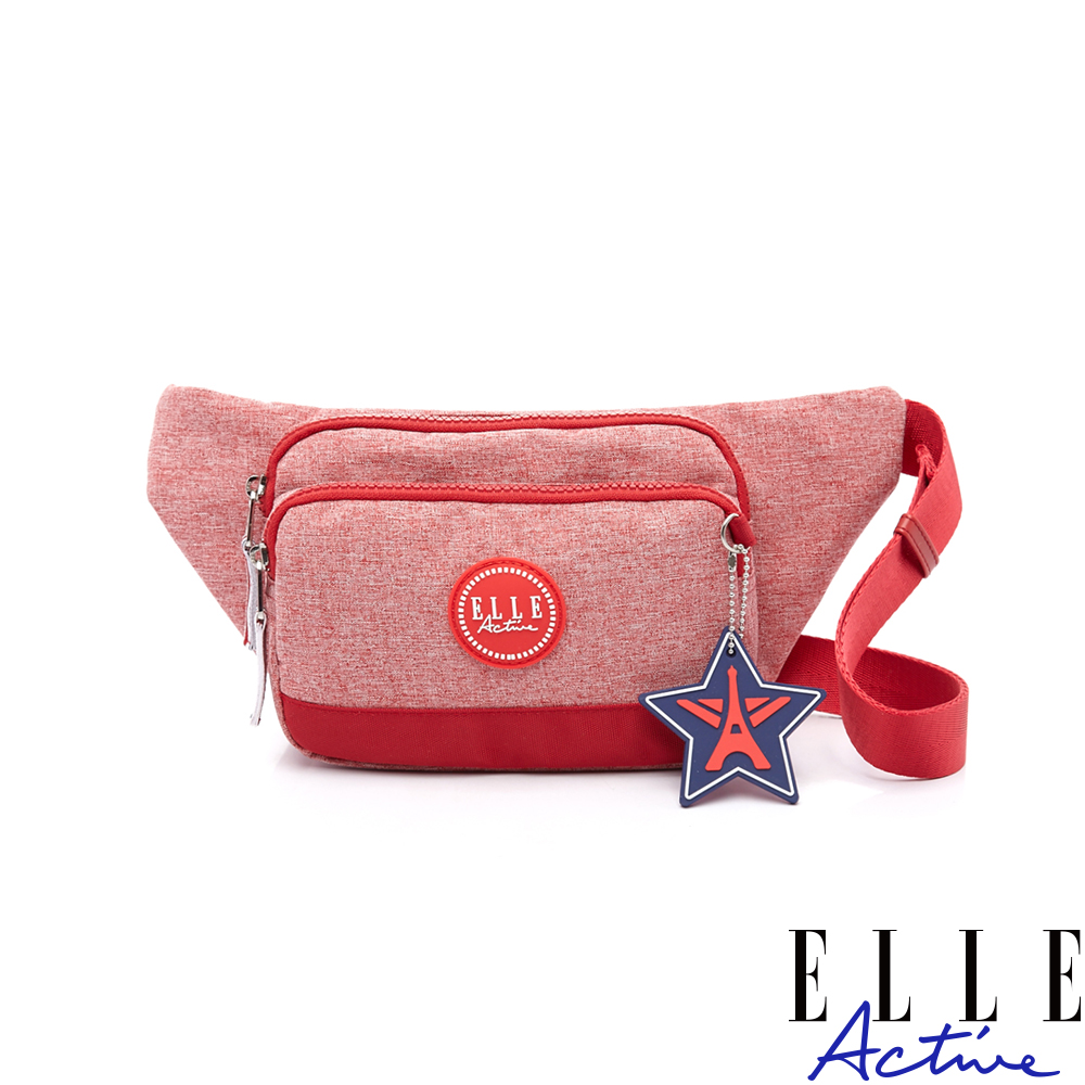 ELLE Active 巴黎遊走系列-多夾層腰包-紅色