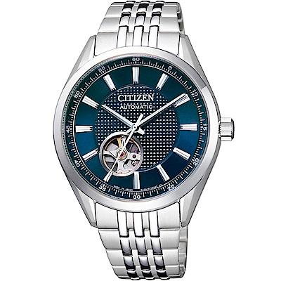 CITIZEN星辰 限量鏤空紳士機械錶(NH9110-81L)-藍/40mm