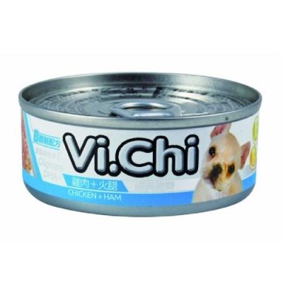 維齊Vi.Chi 《經典 機能狗罐-雞肉+火腿》80g 24罐組