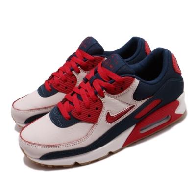 Nike 休閒鞋 Air Max 90 PRM 運動 男鞋 經典款 刮刮樂 小logo 質感 穿搭 紅 白 CJ0611101