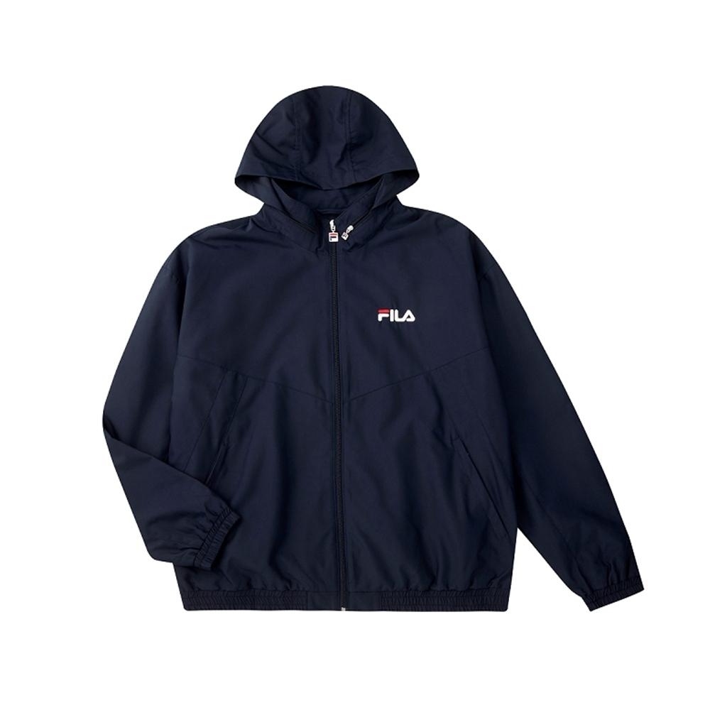 FILA 男平織外套-丈青 1JKU-5466-NV