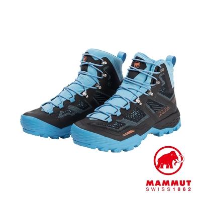 【Mammut 長毛象】Ducan High GTX 高筒登山健行鞋 女款 黑色/自在藍 #3030-03480