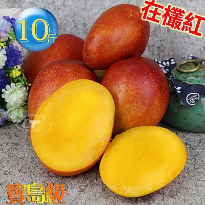 預購-風之果 枋山寶島級香甜40年老欉愛文芒果禮盒10台斤(18-19顆)