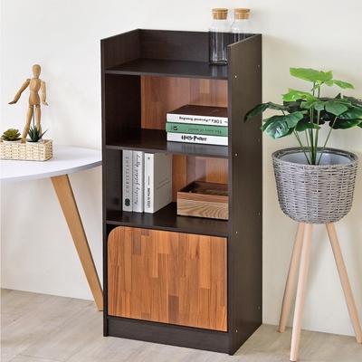 《HOPMA》DIY巧收美學三格一門收納櫃/置物櫃/書櫃/門櫃-寬41.5 x深30x高106.5cm