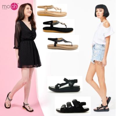【時時樂限定】mo.oh運動風&民族風涼鞋