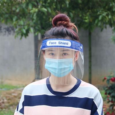 [荷生活]PET高清大面積防飛沫油煙透明面罩(1入組) 可重覆使用