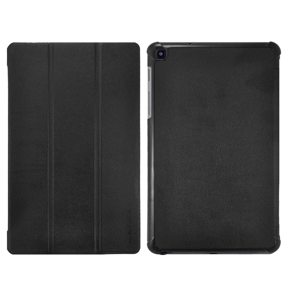 Metal-Slim SAMSUNG Galaxy Tab S6 Lite 高仿小牛皮三折站立皮套