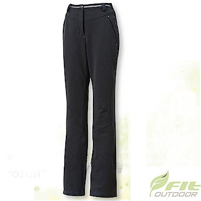 FIT 女 彈性吸排抗靜電保暖長褲_EW2802 碳灰色 V