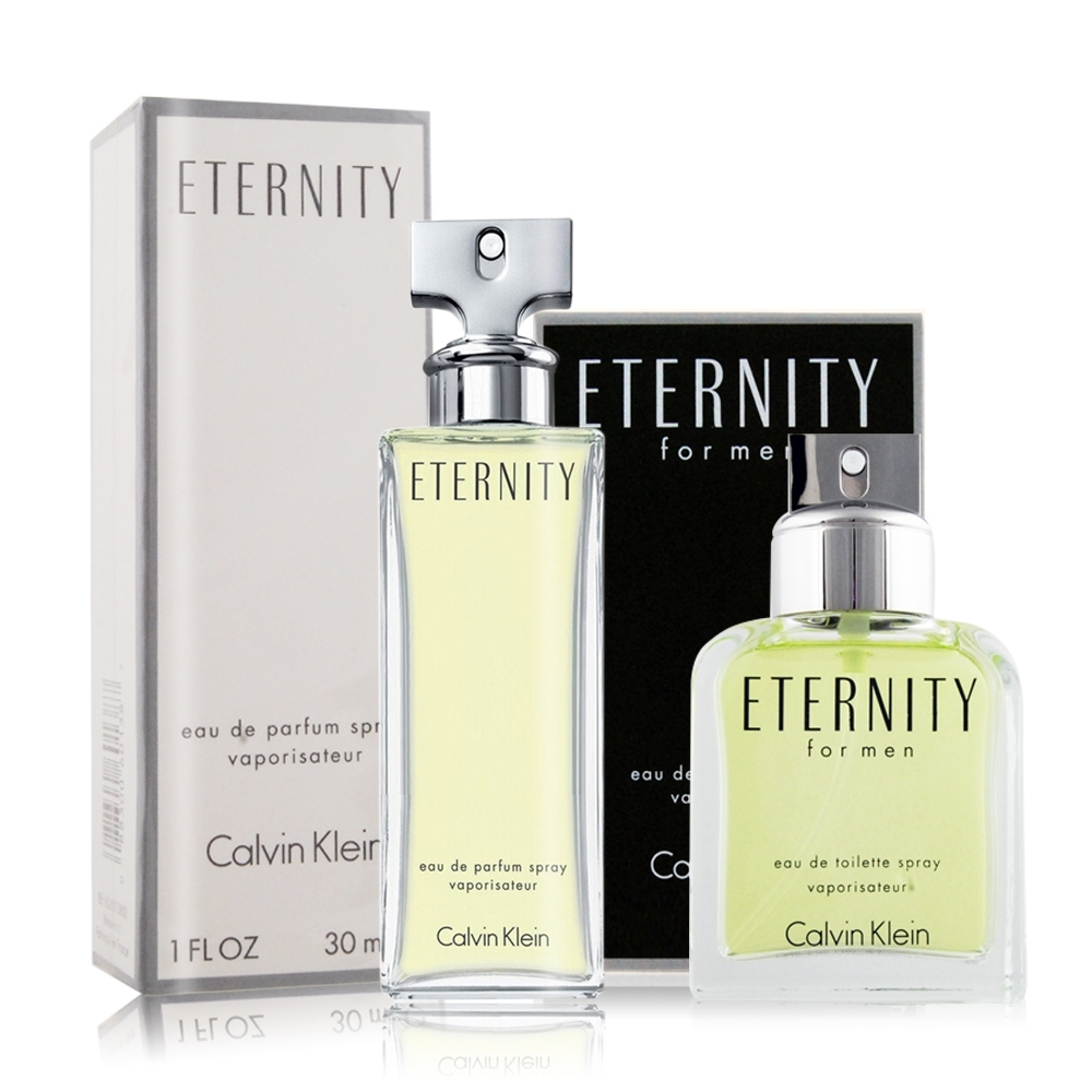 Calvin Klein CK Eternity 永恆男女對香組[淡香水+淡香精]30mlX2-國際航空版