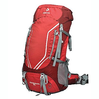 迪伯特DIBOTE 極輕骨架。可調背長 人體工學60L登山背包/登山包 (紅色)